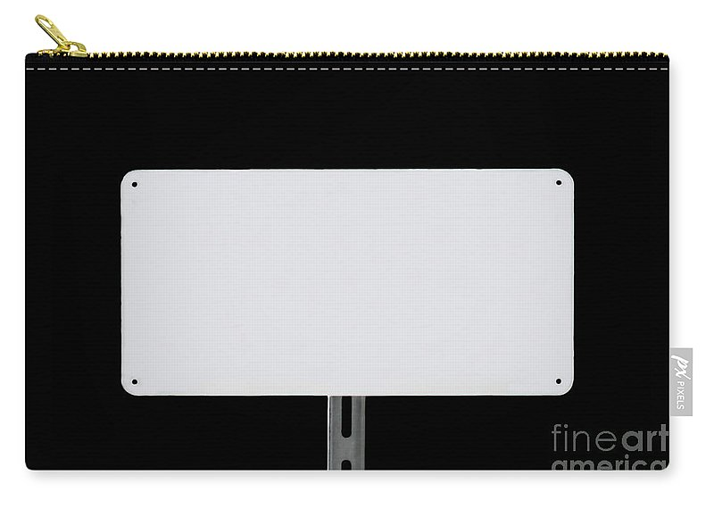 White Carry-all Pouch featuring the photograph White Sign Black by Henrik Lehnerer