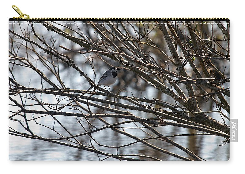 Isosuo Carry-all Pouch featuring the photograph White Wagtail by Jouko Lehto