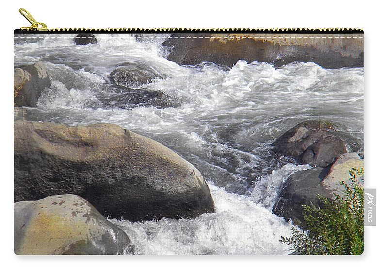 Carry-all Pouch featuring the photograph White Water Composition by Frank Wilson