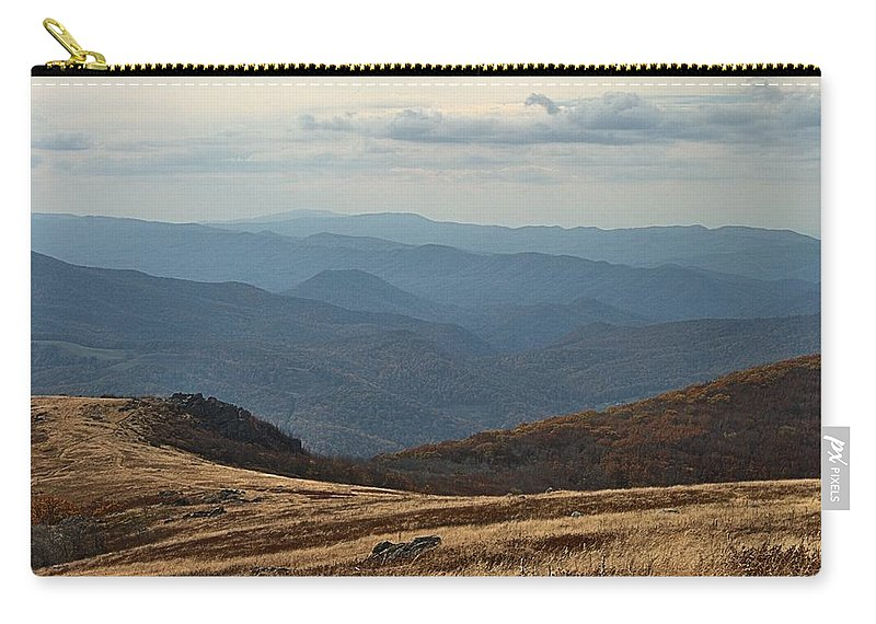 Whitetop Mountain Carry-all Pouch featuring the photograph Whitetop Mountain Scene by Mel Hensley