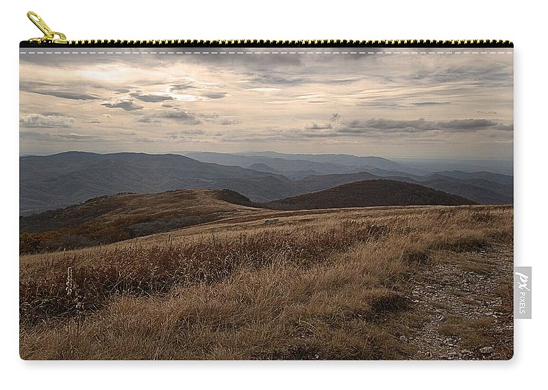 Whitetop Mountain Virginia Carry-all Pouch featuring the photograph Whitetop Mountain Virginia by Mel Hensley