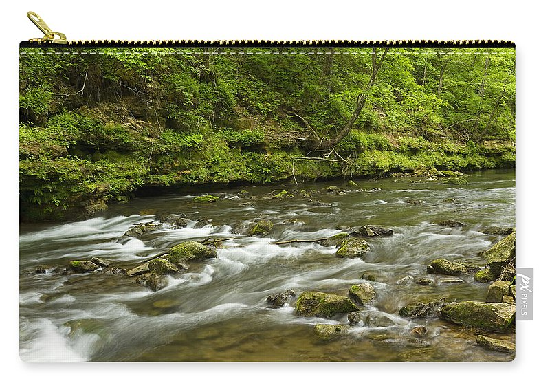 Rock Carry-all Pouch featuring the photograph Whitewater River Spring 8 A by John Brueske