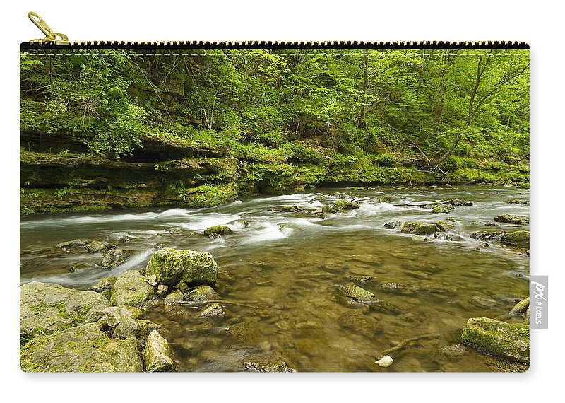 Rock Carry-all Pouch featuring the photograph Whitewater River Spring 8 C by John Brueske