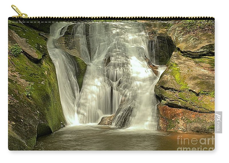 Stone Mountain State Park Carry-all Pouch featuring the photograph Widows Creek Falls by Adam Jewell