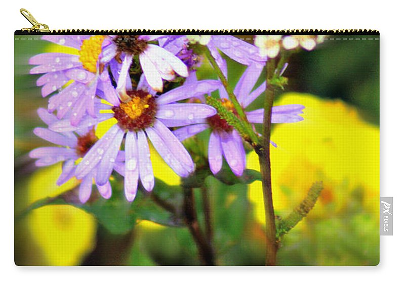 Flower Carry-all Pouch featuring the photograph Wild Floral by Marty Koch