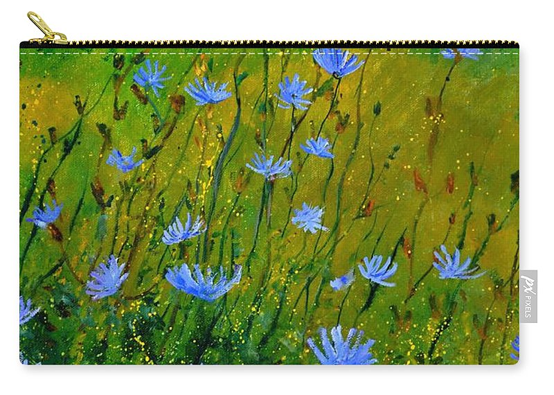 Floral Carry-all Pouch featuring the painting Wild Flowers 911 by Pol Ledent