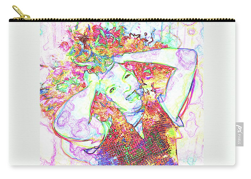 People Carry-all Pouch featuring the photograph Wild Thoughts by Karen Elzinga