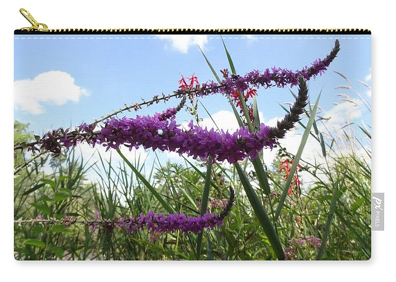 Loosestrife Carry-all Pouch featuring the photograph Wildflower Sky by Laurel Best