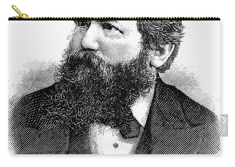 1886 Carry-all Pouch featuring the photograph Wilhelm Steinitz (1836-1900) by Granger