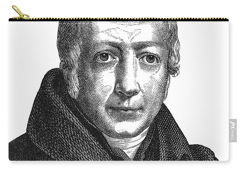 18th Century Carry-all Pouch featuring the photograph Wilhelm Von Humboldt by Granger