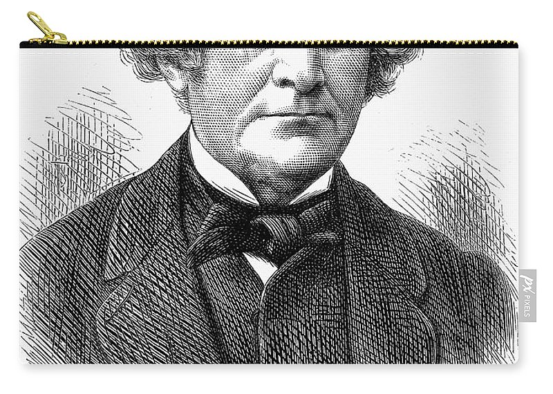 1872 Carry-all Pouch featuring the photograph William C. Wentworth by Granger