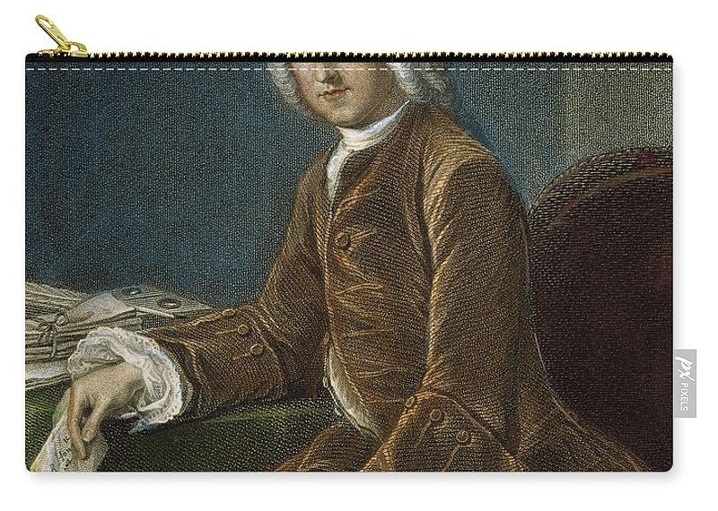 18th Century Carry-all Pouch featuring the photograph William Pitt (1708-1778) by Granger