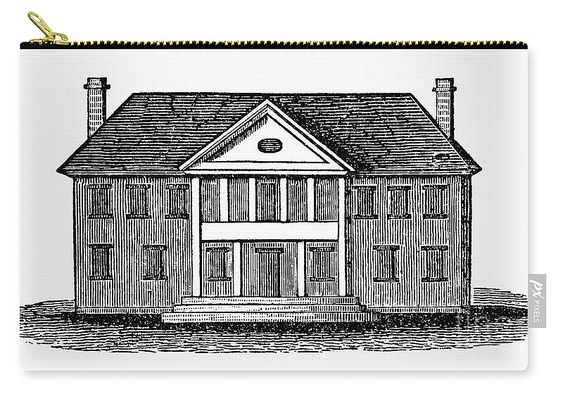 18th Century Carry-all Pouch featuring the photograph Williamsburg: Capitol by Granger