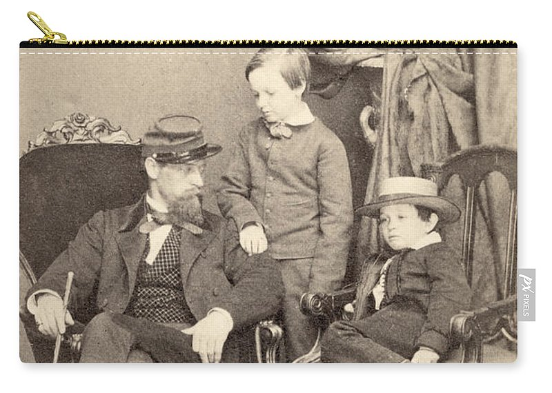 1862 Carry-all Pouch featuring the photograph Willie & Tad Lincoln, 1862 by Granger