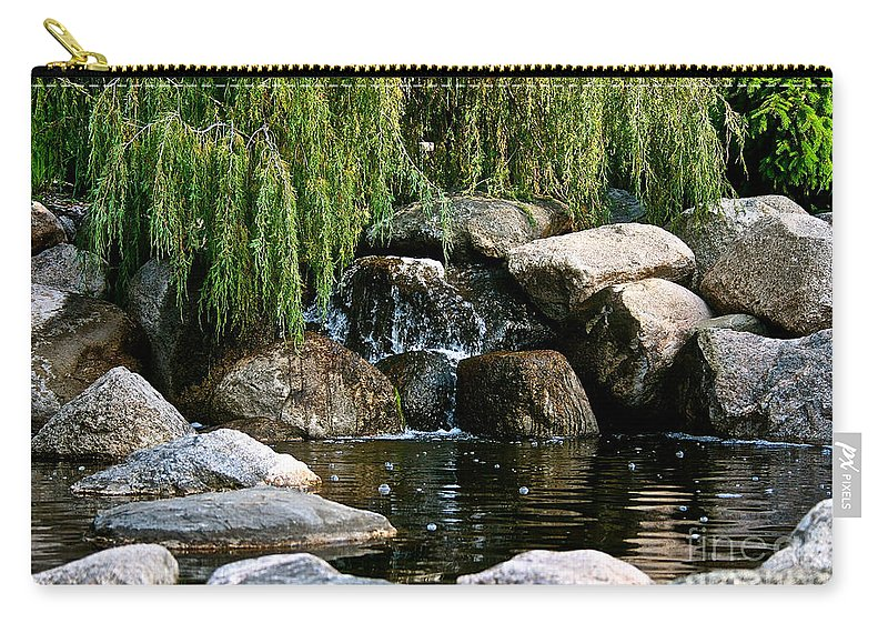 Pond Carry-all Pouch featuring the photograph Willow Falls by Susan Herber