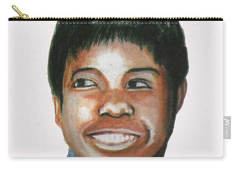 Sports Carry-all Pouch featuring the painting Wilma Rudolph by Emmanuel Baliyanga