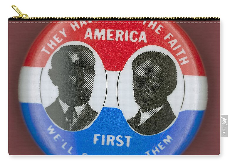 1912 Carry-all Pouch featuring the photograph Wilson Campaign Button by Granger