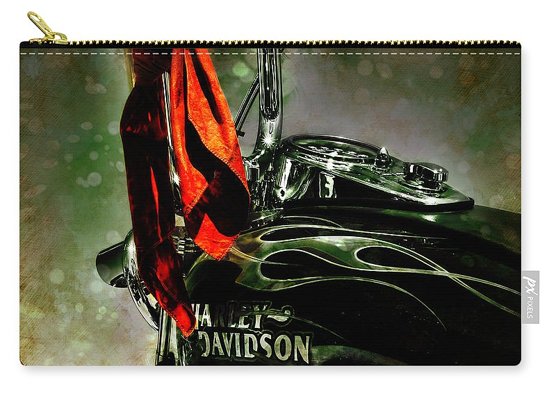 Bike Carry-all Pouch featuring the photograph Wind In Your Hair by Adam Vance
