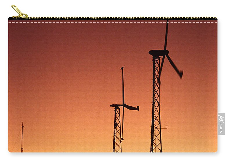 Wind Turbine Carry-all Pouch featuring the photograph Wind Power For Agriculture by Science Source