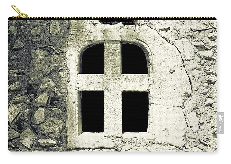 Window Carry-all Pouch featuring the photograph Window Of Stone by Joana Kruse