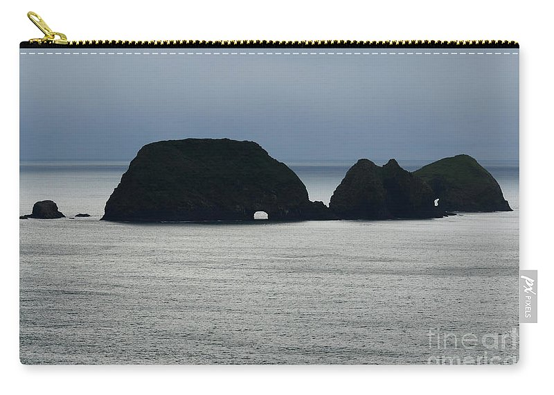 Window Rocks Carry-all Pouch featuring the photograph Window Rocks by Bob Christopher
