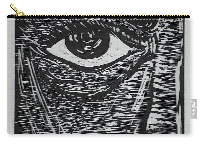 Printmaking Carry-all Pouch featuring the mixed media Window To The Soul by Jennifer Christenson
