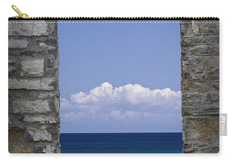 Art Carry-all Pouch featuring the photograph Window View At Fayette State Park Michigan by Randall Nyhof