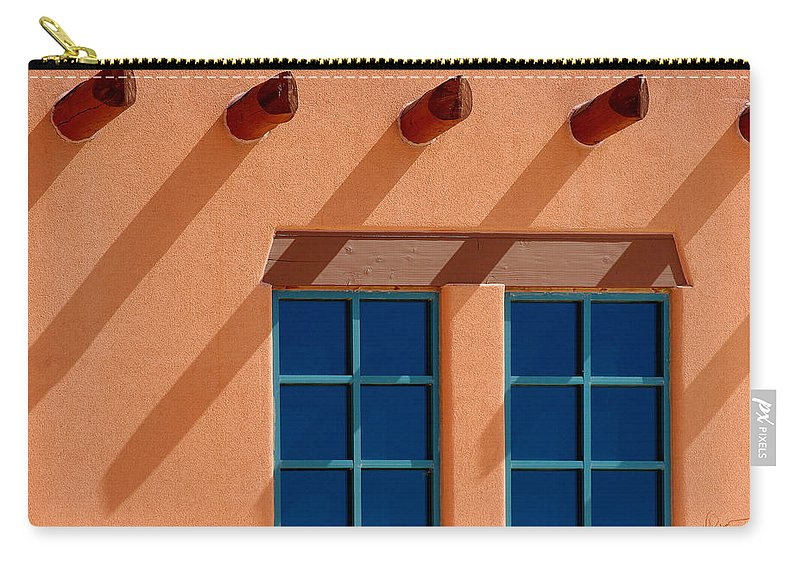 Wall Carry-all Pouch featuring the photograph Windows Blue by Vicki Pelham