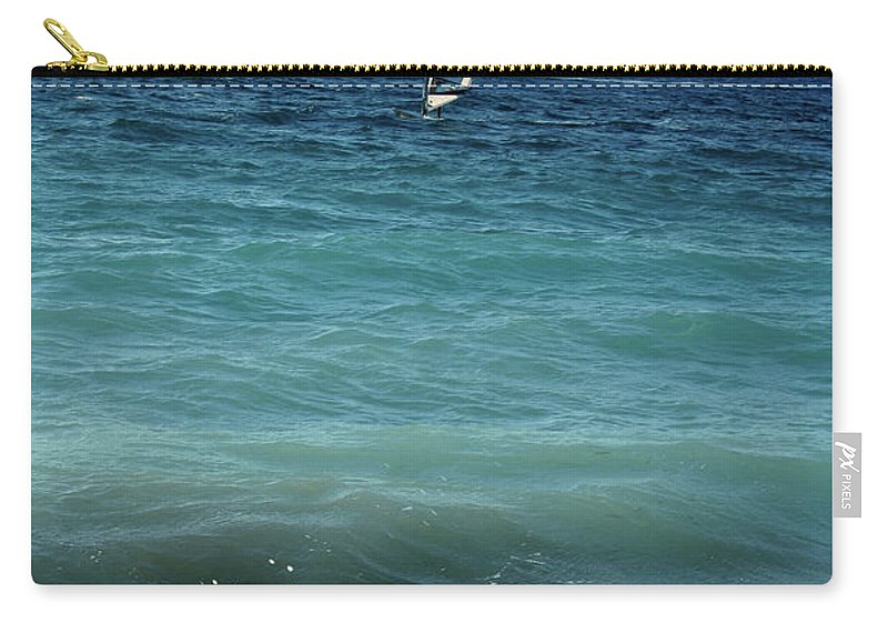 Windsurf Carry-all Pouch featuring the photograph Windsurf by La Dolce Vita