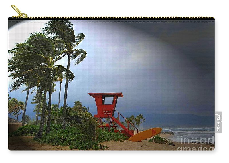 Hawaii Carry-all Pouch featuring the photograph Windy Day In Haleiwa by Mark Gilman