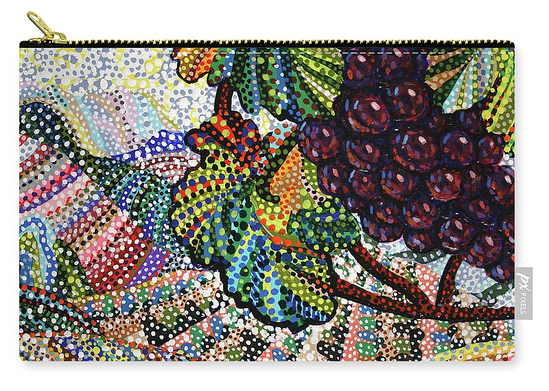 Vineyeard Carry-all Pouch featuring the painting Wine Country by Erika Pochybova