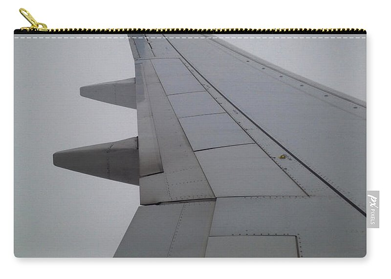 Airplane Carry-all Pouch featuring the photograph Wing by Tim Nyberg