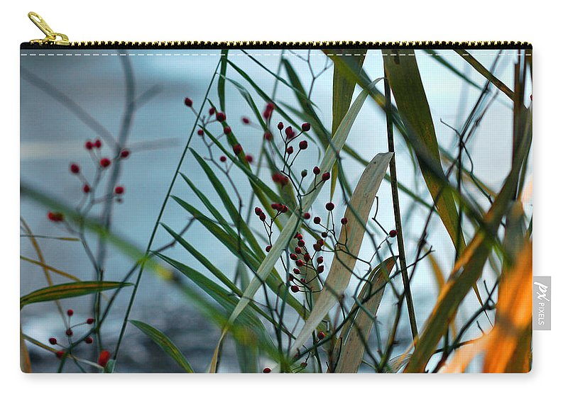 Berries Carry-all Pouch featuring the photograph Winter And Fall Fight by LeeAnn McLaneGoetz McLaneGoetzStudioLLCcom