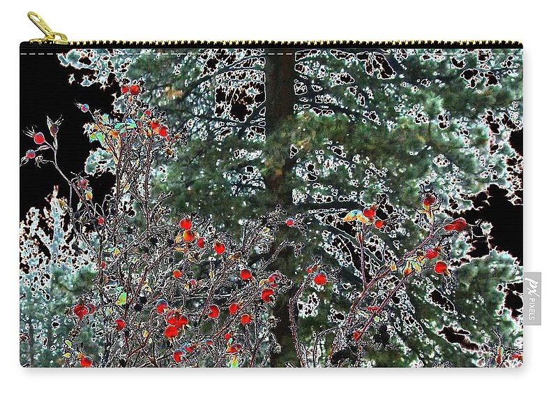 Winter Carry-all Pouch featuring the digital art Winter Color by Will Borden