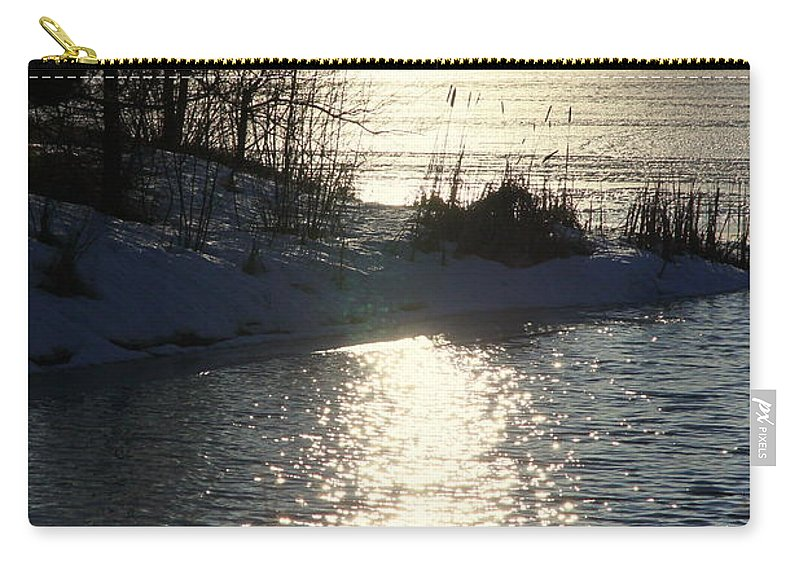 Winter Carry-all Pouch featuring the photograph Winter Dusk by Valentino Visentini
