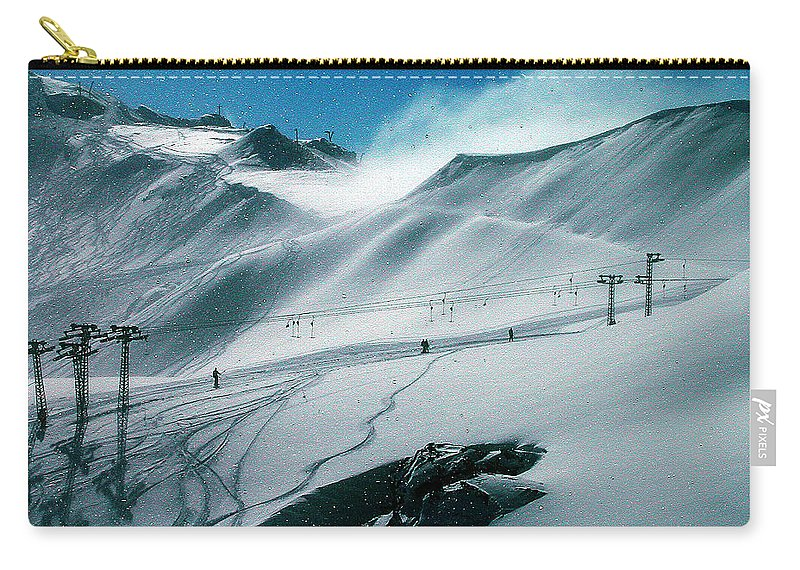 Colette Carry-all Pouch featuring the photograph Winter In Austria by Colette V Hera Guggenheim
