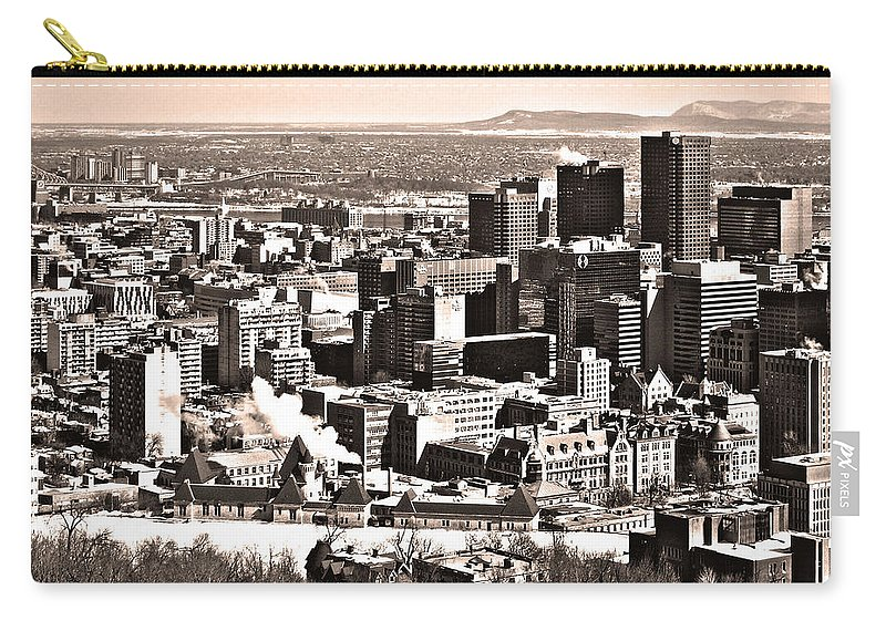 North America Carry-all Pouch featuring the photograph Winter In The City ... by Juergen Weiss