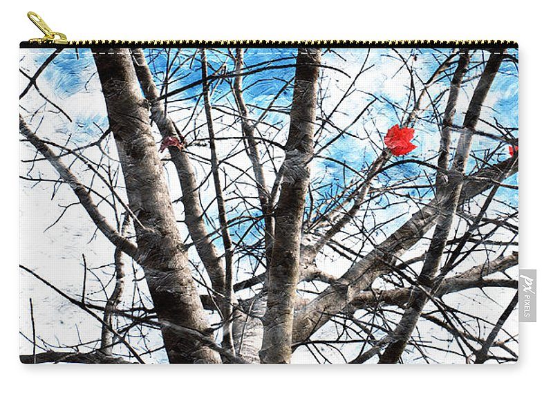 Tree Carry-all Pouch featuring the photograph Winter Is Near by Andee Design