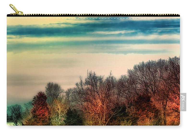 Trees Carry-all Pouch featuring the photograph Winter Lake Fantasm by Bill Tiepelman