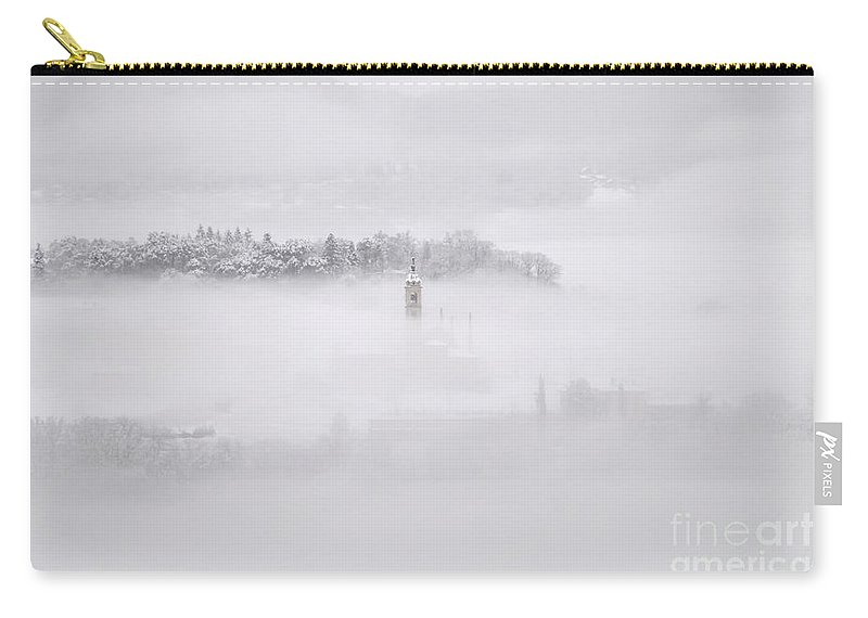 Winter Carry-all Pouch featuring the photograph Winter Landscape With Fog by Mats Silvan
