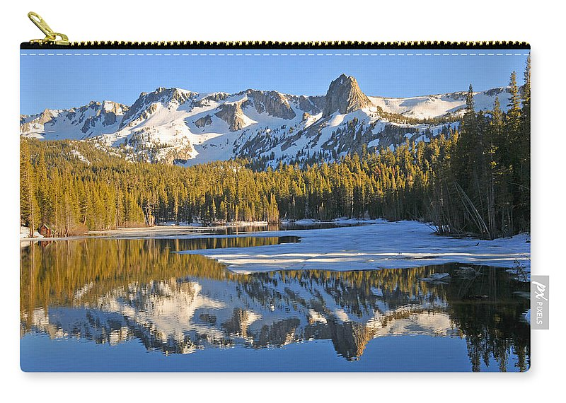 Lakes Carry-all Pouch featuring the photograph Winter Reflections by Lynn Bauer
