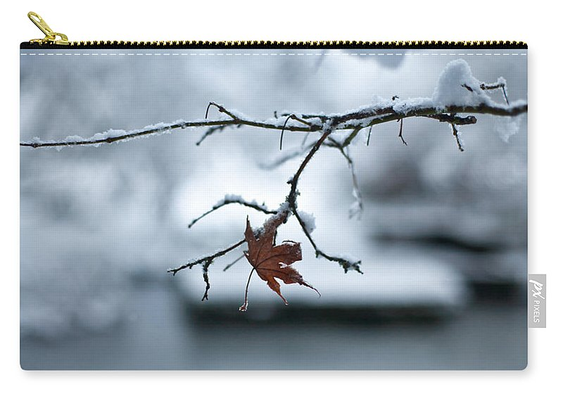 Winter Carry-all Pouch featuring the photograph Winter Solo by Mike Reid
