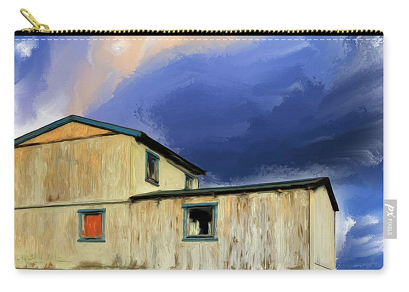 Winter Carry-all Pouch featuring the painting Winter Storm by Dominic Piperata