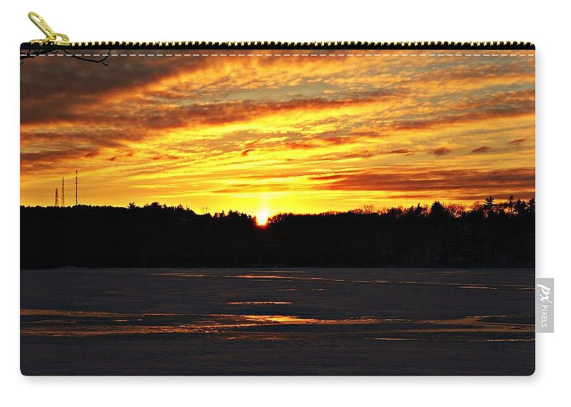 Sunset Carry-all Pouch featuring the photograph Winter Sunset I by Joe Faherty