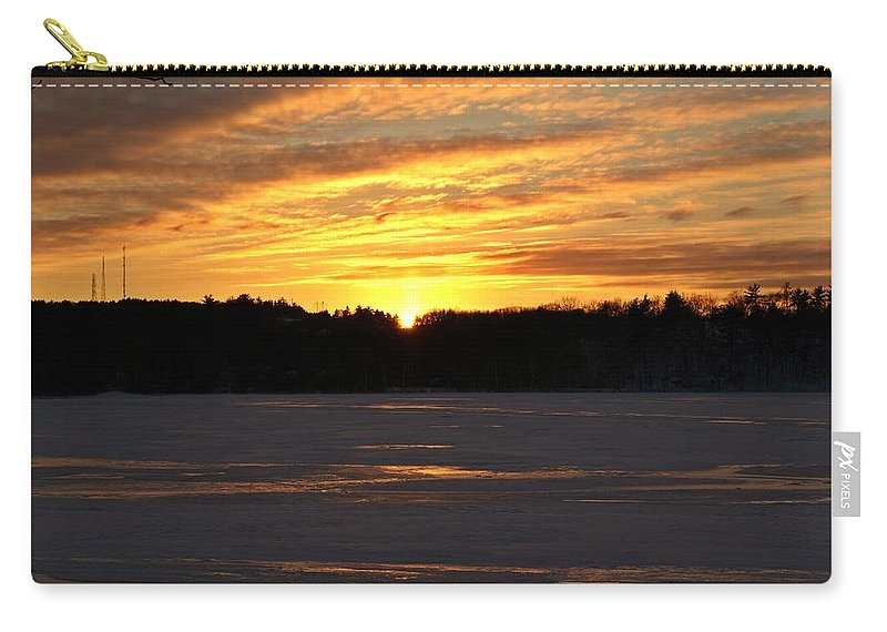 Winter Carry-all Pouch featuring the photograph Winter Sunset II by Joe Faherty