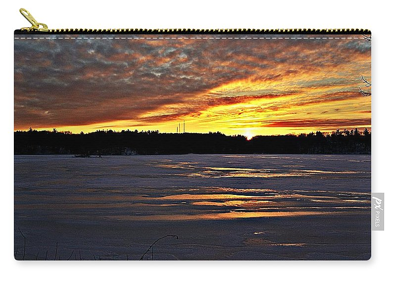 Winter Carry-all Pouch featuring the photograph Winter Sunset Iv by Joe Faherty