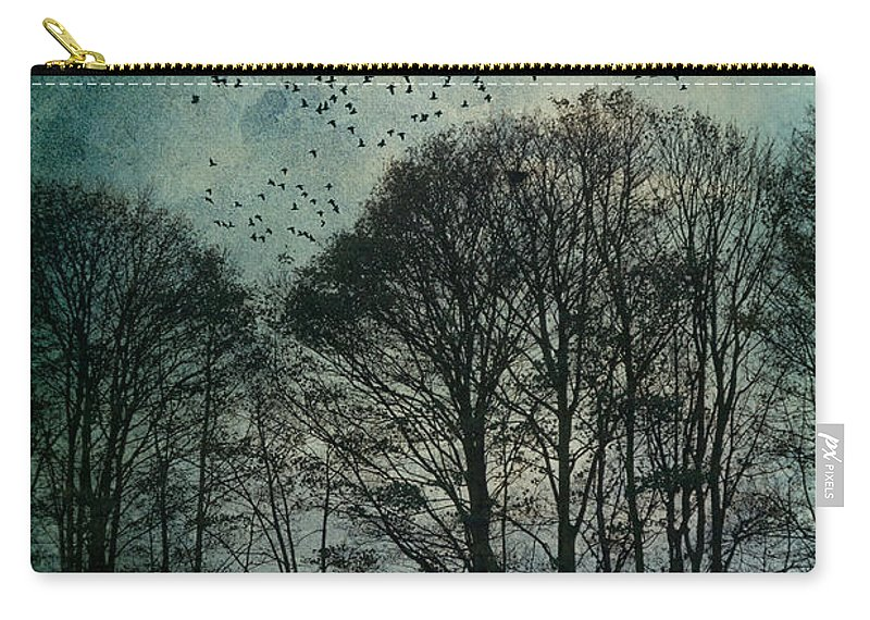 Tree Carry-all Pouch featuring the photograph Winter Trees by Ann Garrett