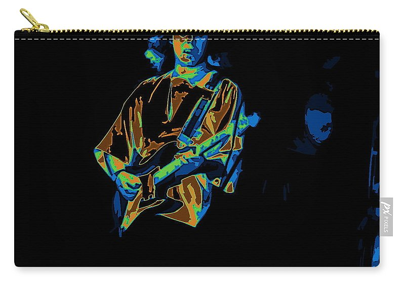 Tommy Bolin Carry-all Pouch featuring the photograph Winterland Cosmic Grind by Ben Upham