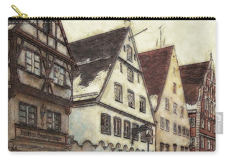 Photo Carry-all Pouch featuring the photograph Winterly Old Town by Jutta Maria Pusl