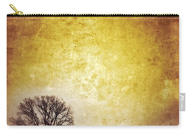 Tree Carry-all Pouch featuring the photograph Wintery Road Sunrise by Jill Battaglia